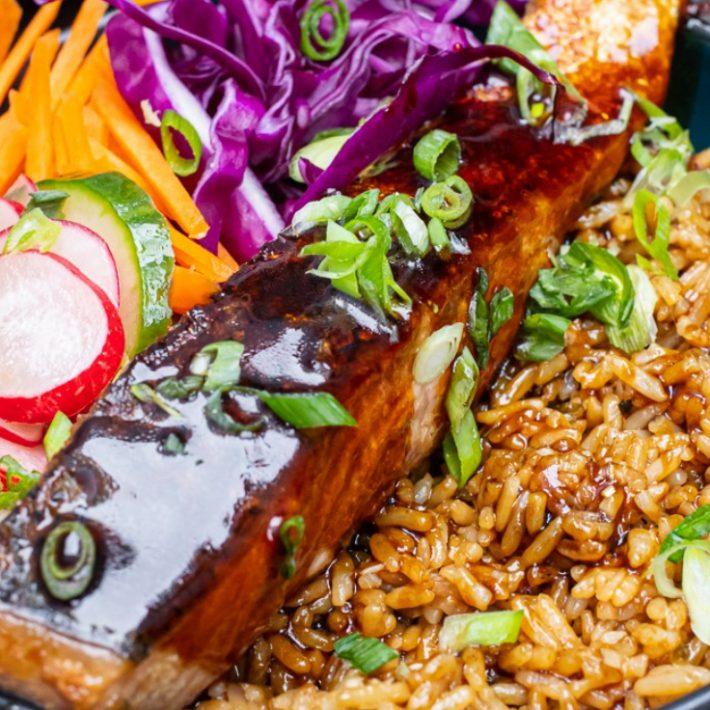 Crispy Salmon Bento Bowl