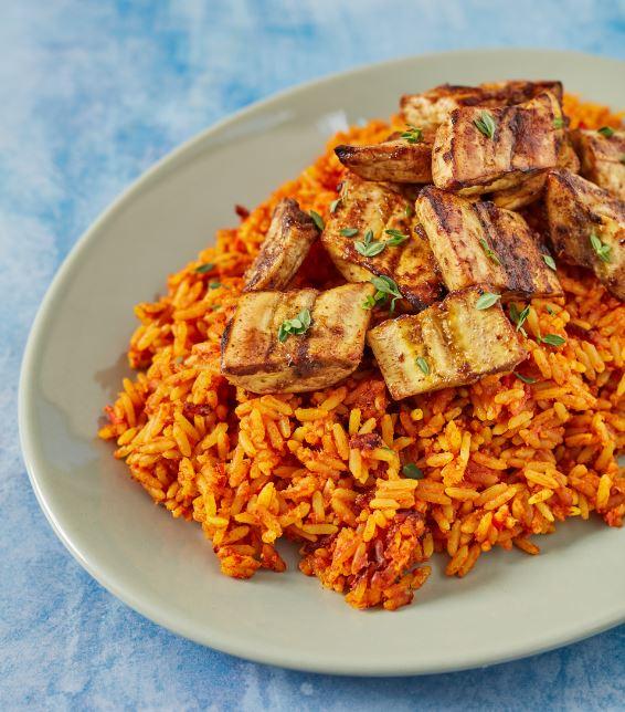 Jollof Rice With Kelewele