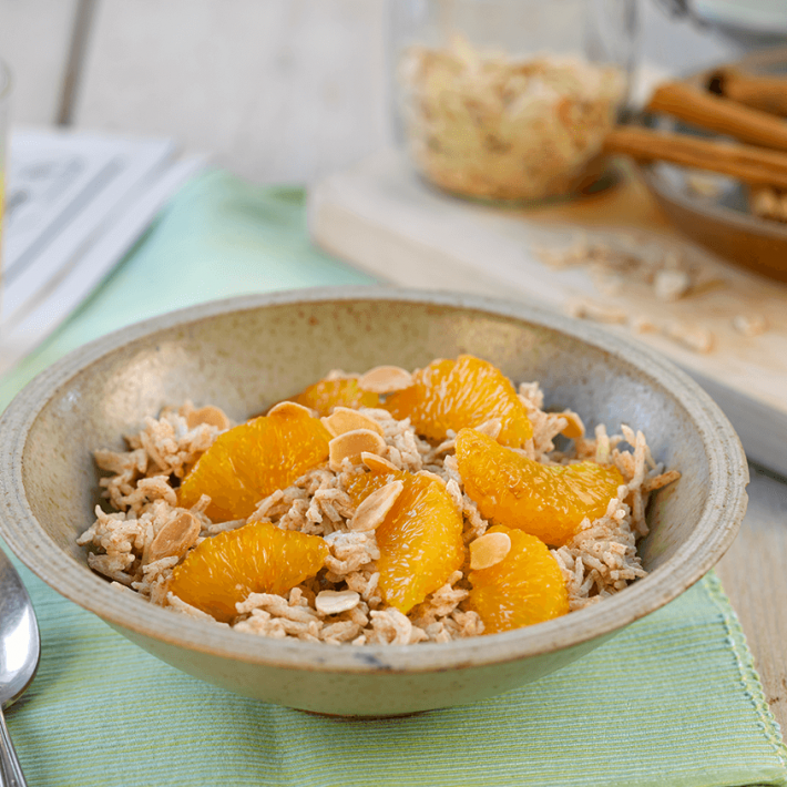 Yoghurt Rice With Oranges and Almonds