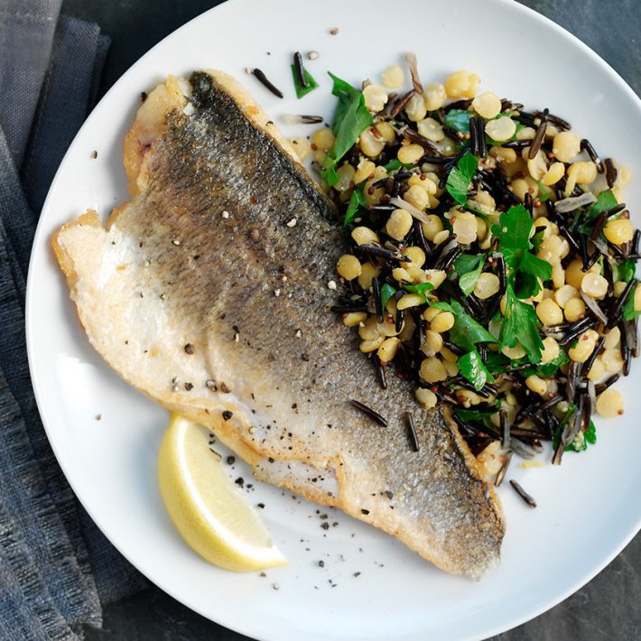 Wild Rice Medley with Sea Bass