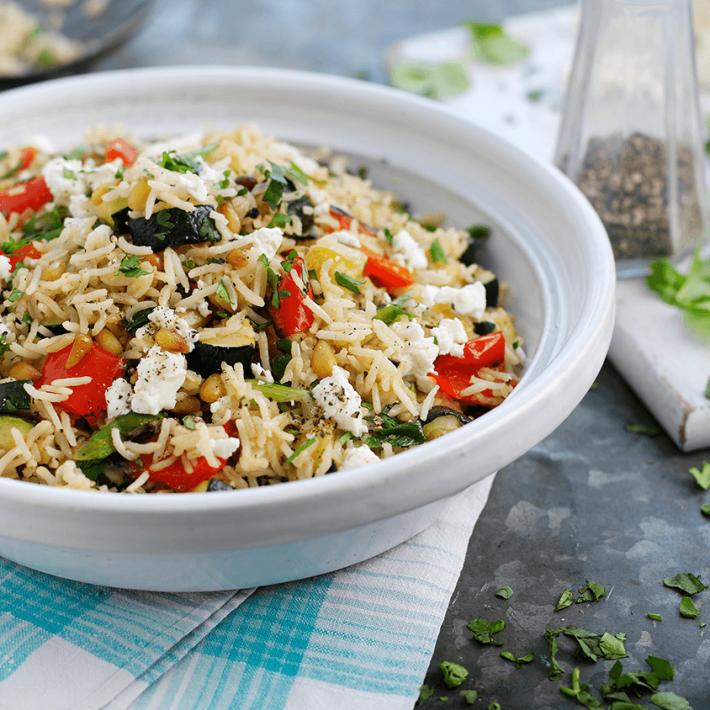 Warm Vegetable Mediterranean Salad