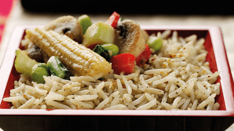 Thai Vegetable Stir Fry With Coriander Rice
