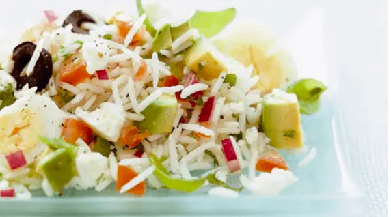 Summery Feta and Avocado Rice Salad