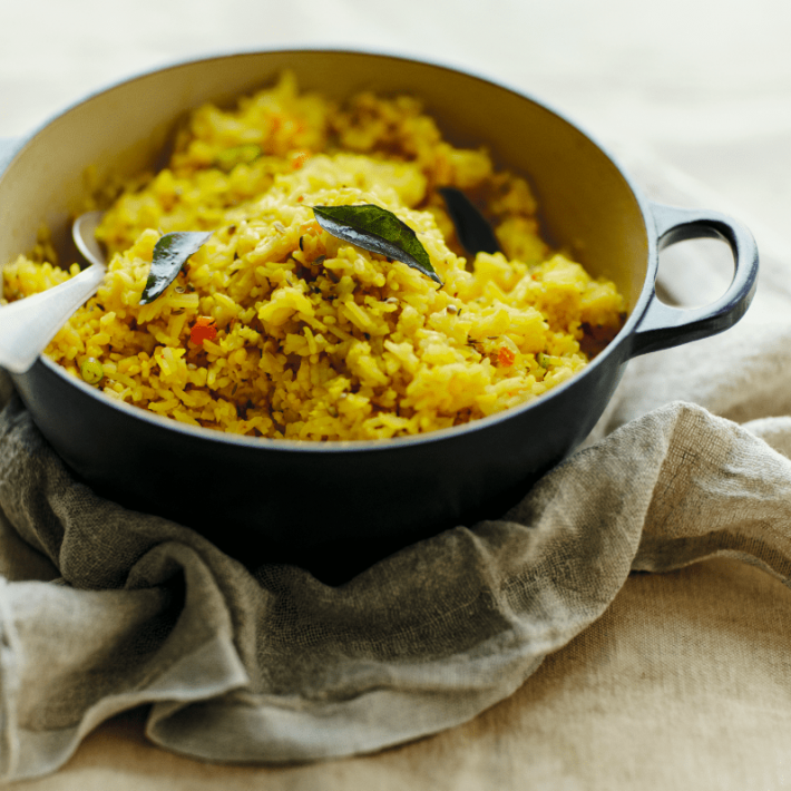 Split mung bean & rice pulao
