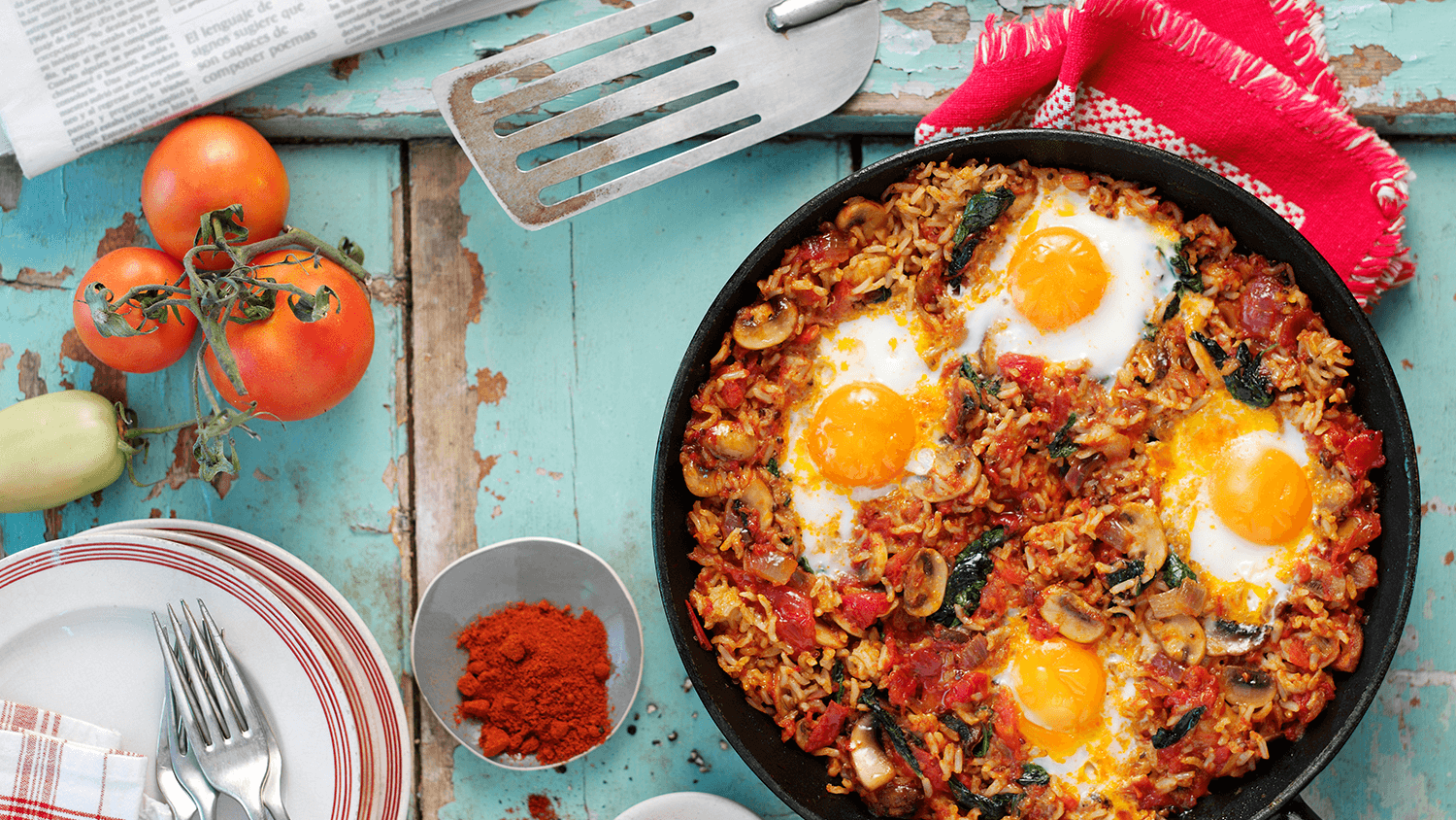 Spicy Tomato & Egg Brunch