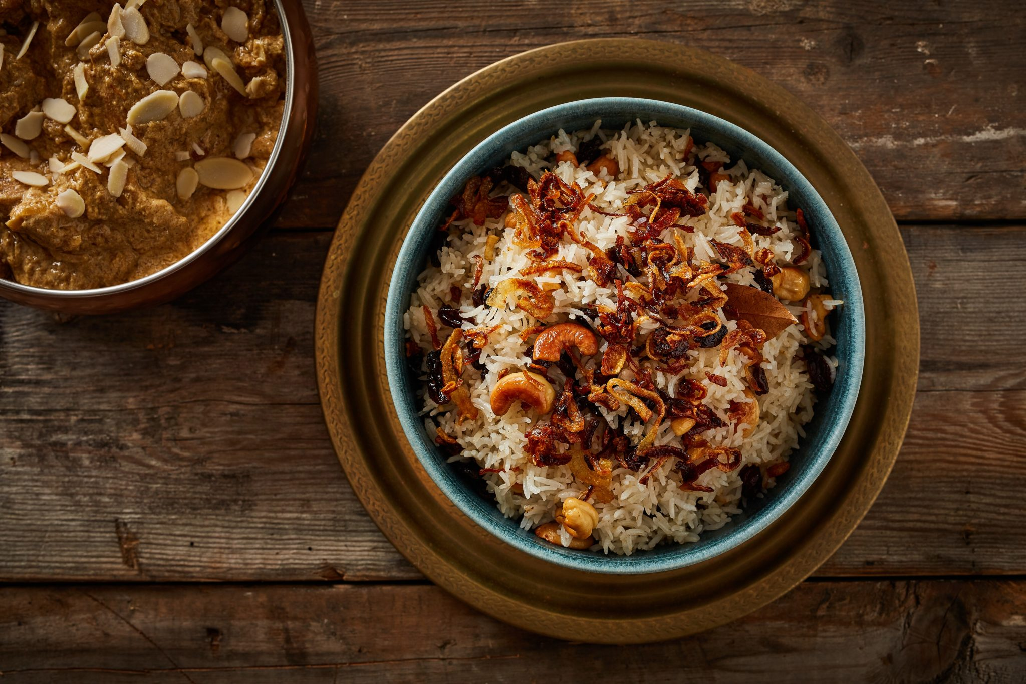 Sada pulao - Bengali pulao with cashews and raisins