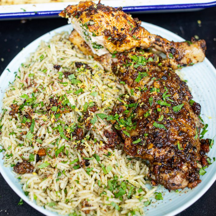 Pistachio and Herb Butter Chicken