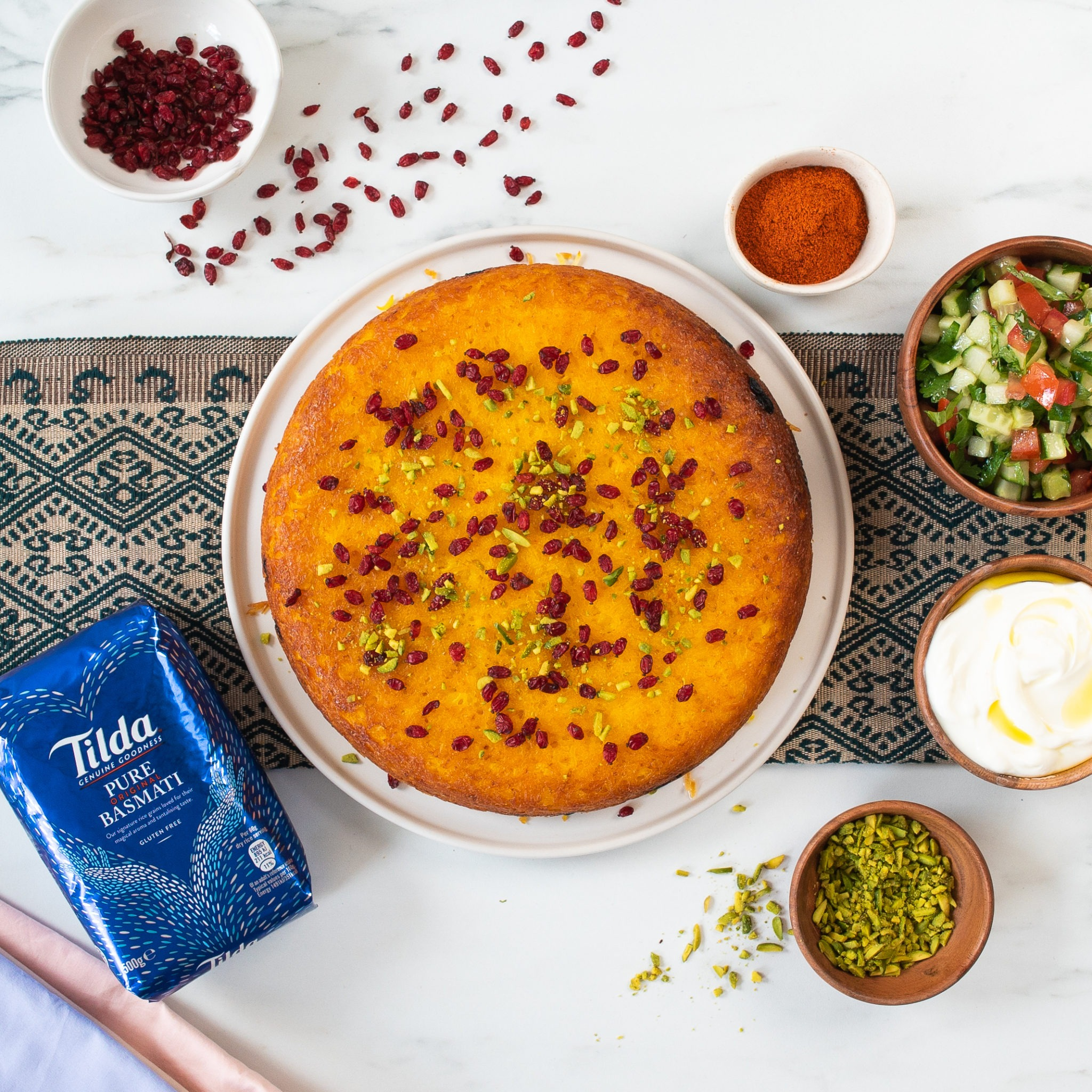 Persian Rice Cake with Barberries