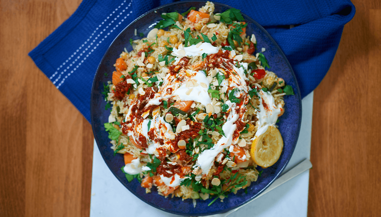 Moroccan Vegetable Pilaf