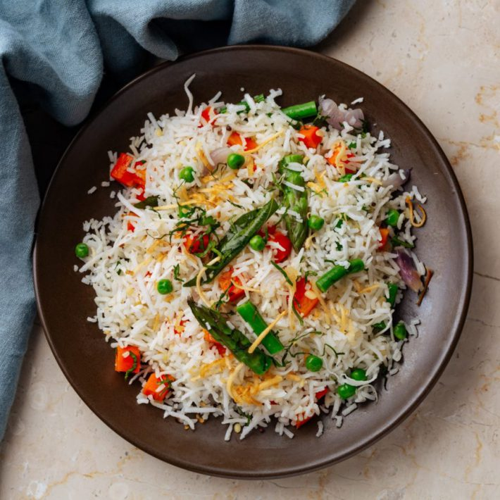 Keralan Coconut Rice with Vegetables