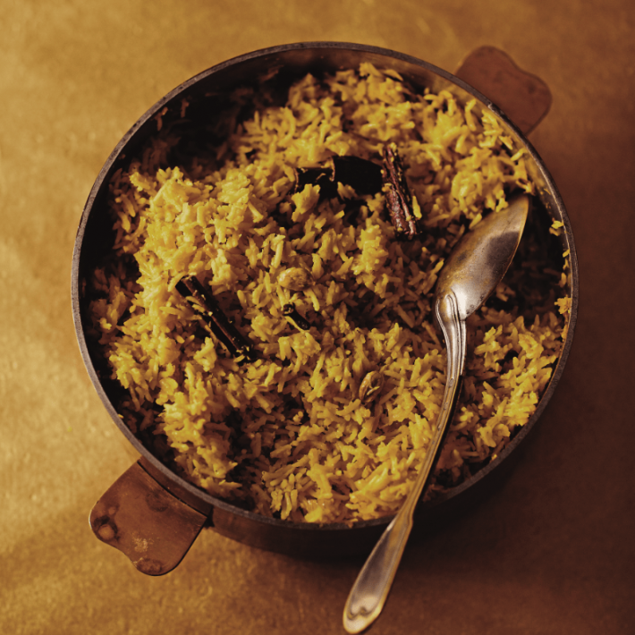 Goan Coconut Rice With Ginger