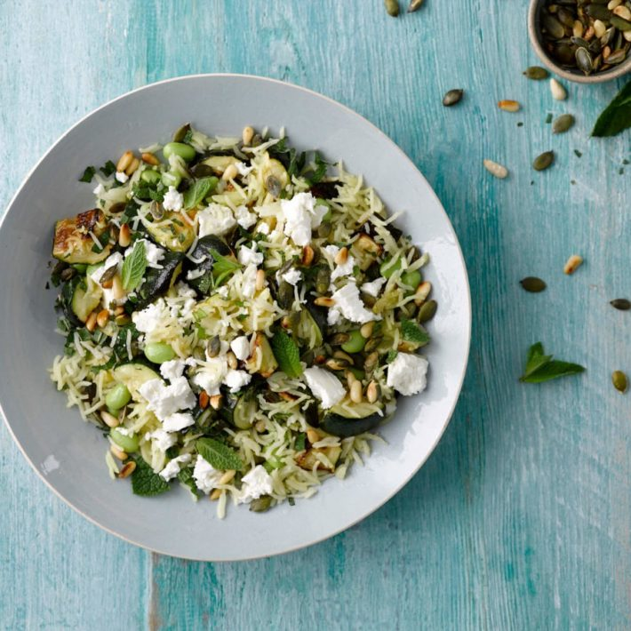 Courgette Rice Salad