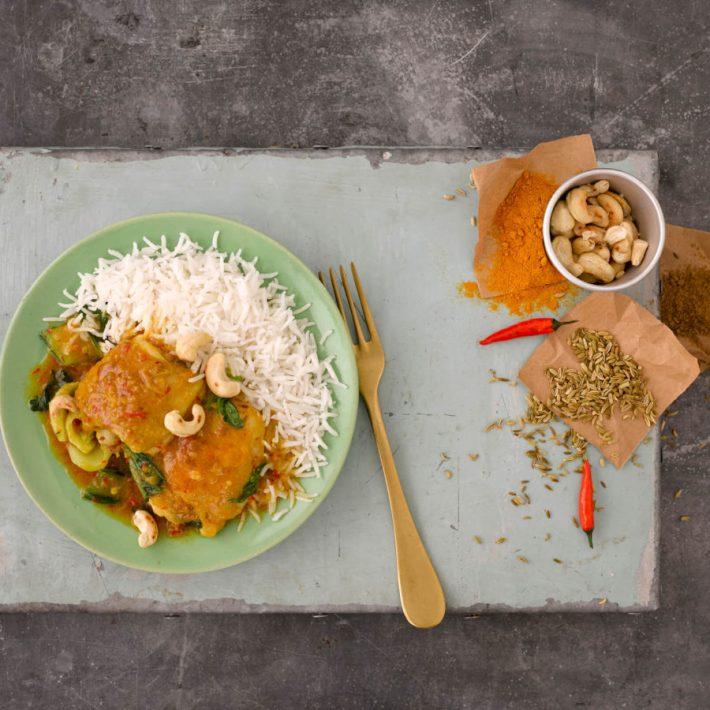 Chinese curry met kip