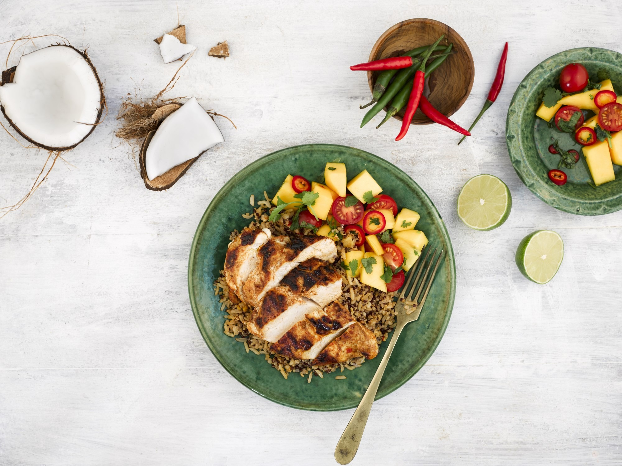 Super Grains - Cajun chicken and Mango Salsa