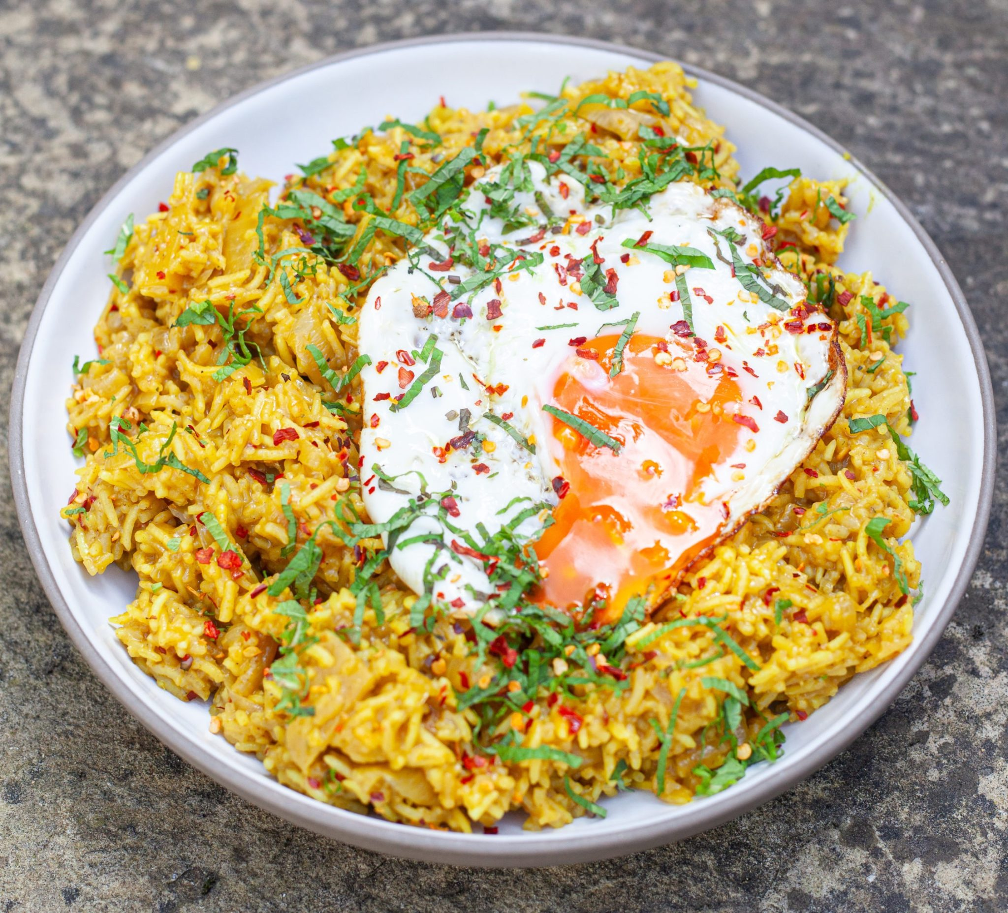 Butter Curried Rice and Egg