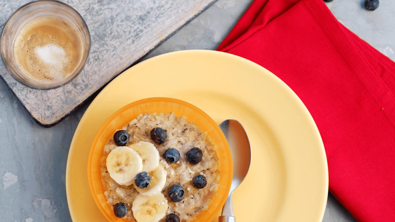 Blueberry Brown Rice Porridge