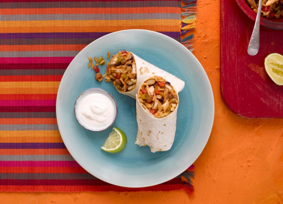 Spicy Chicken Burrito