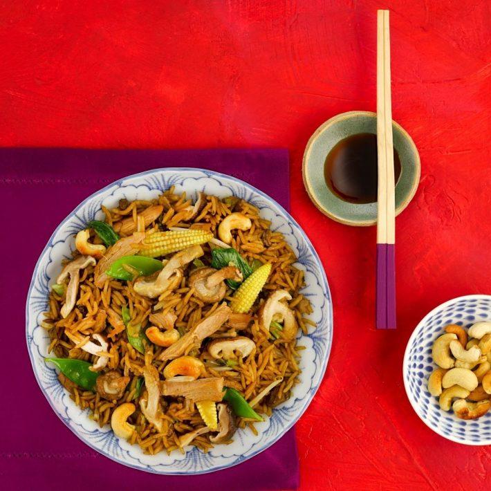 Oriental Duck and Mushroom Stir Fry