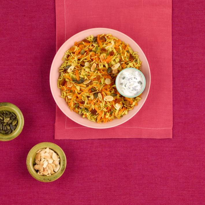 Vegetarian Kabuli Pilau with Raita