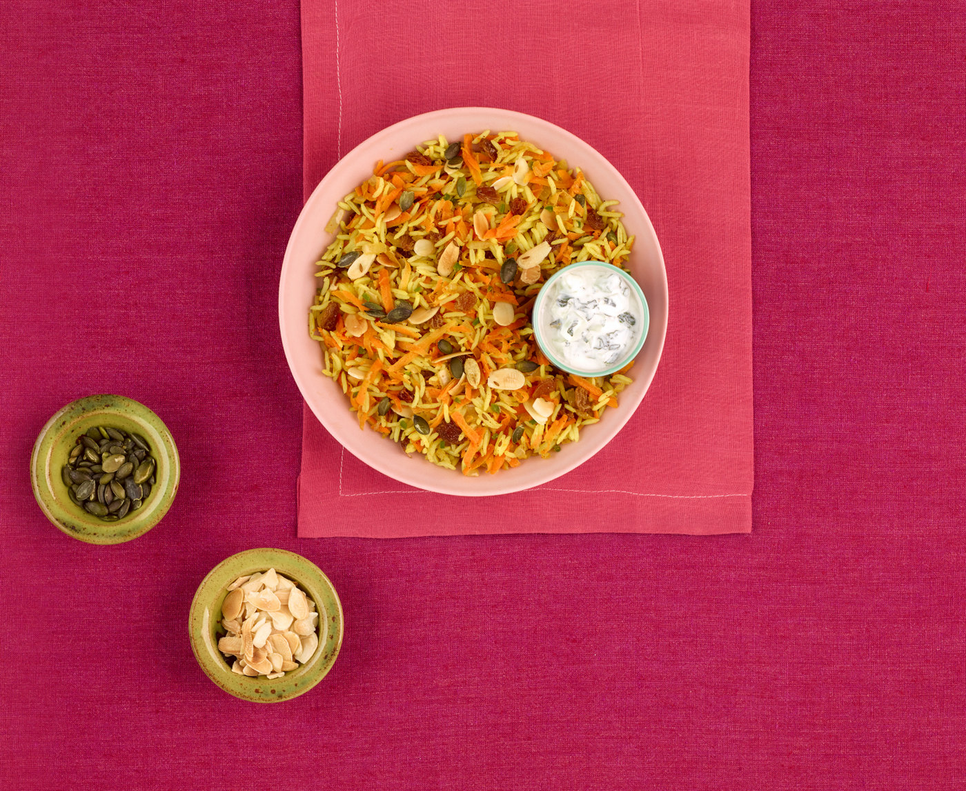 Vegetarian Kabuli Pilau with Raita