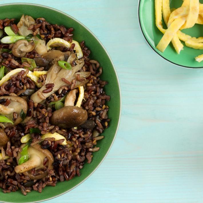 Teriyaki Mushroom & Egg Fried Rice Bowl