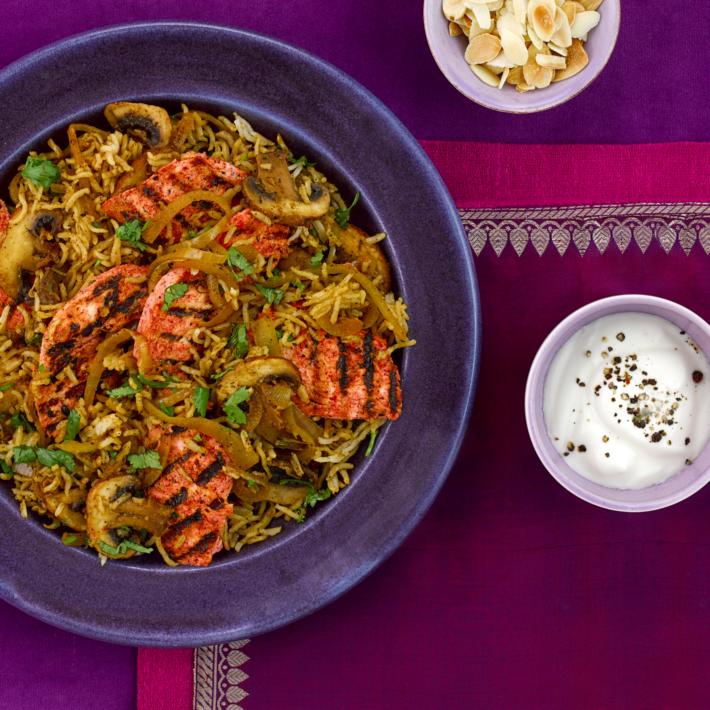 Tandoori Chicken with Mushroom Pilau