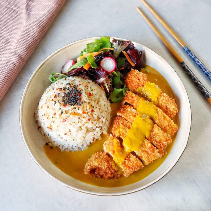 Chicken Katsu Curry With Sushi Rice
