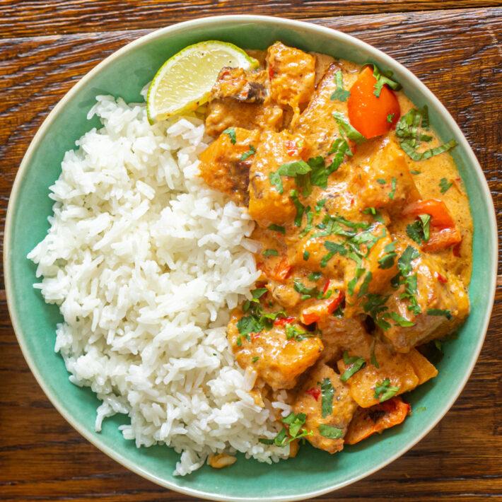Butternut Squash and Tofu Thai Red Curry