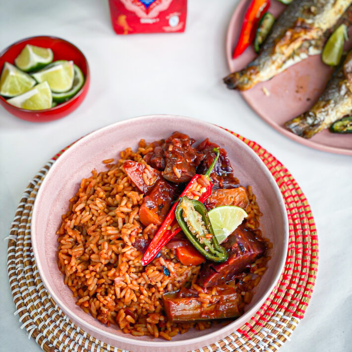 Senegalese Rice with Grilled Sea Bass