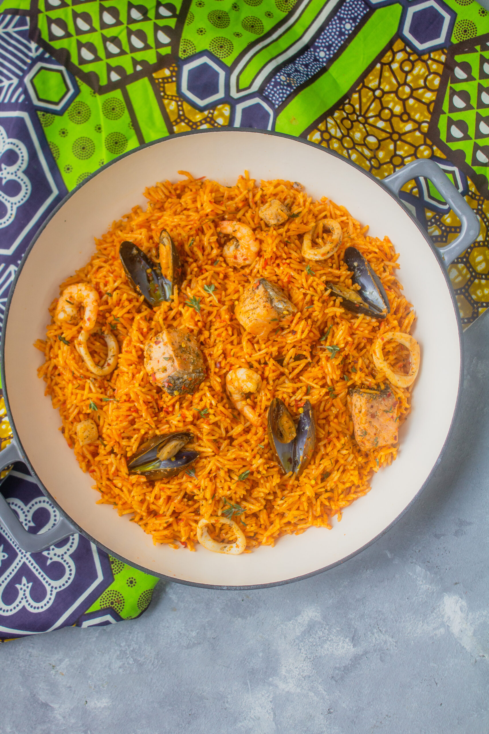 Seafood Jollof