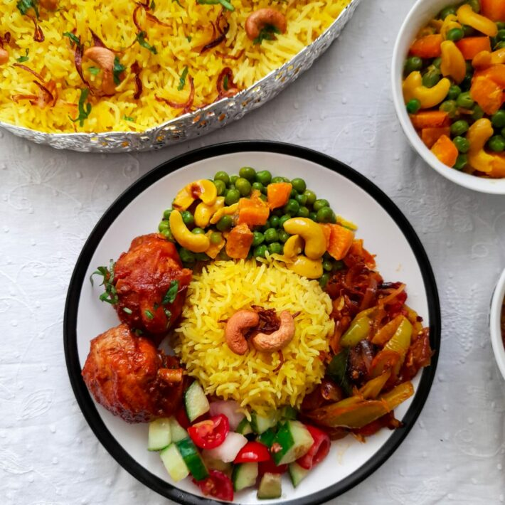 Yellow Rice (Kaha Bath)