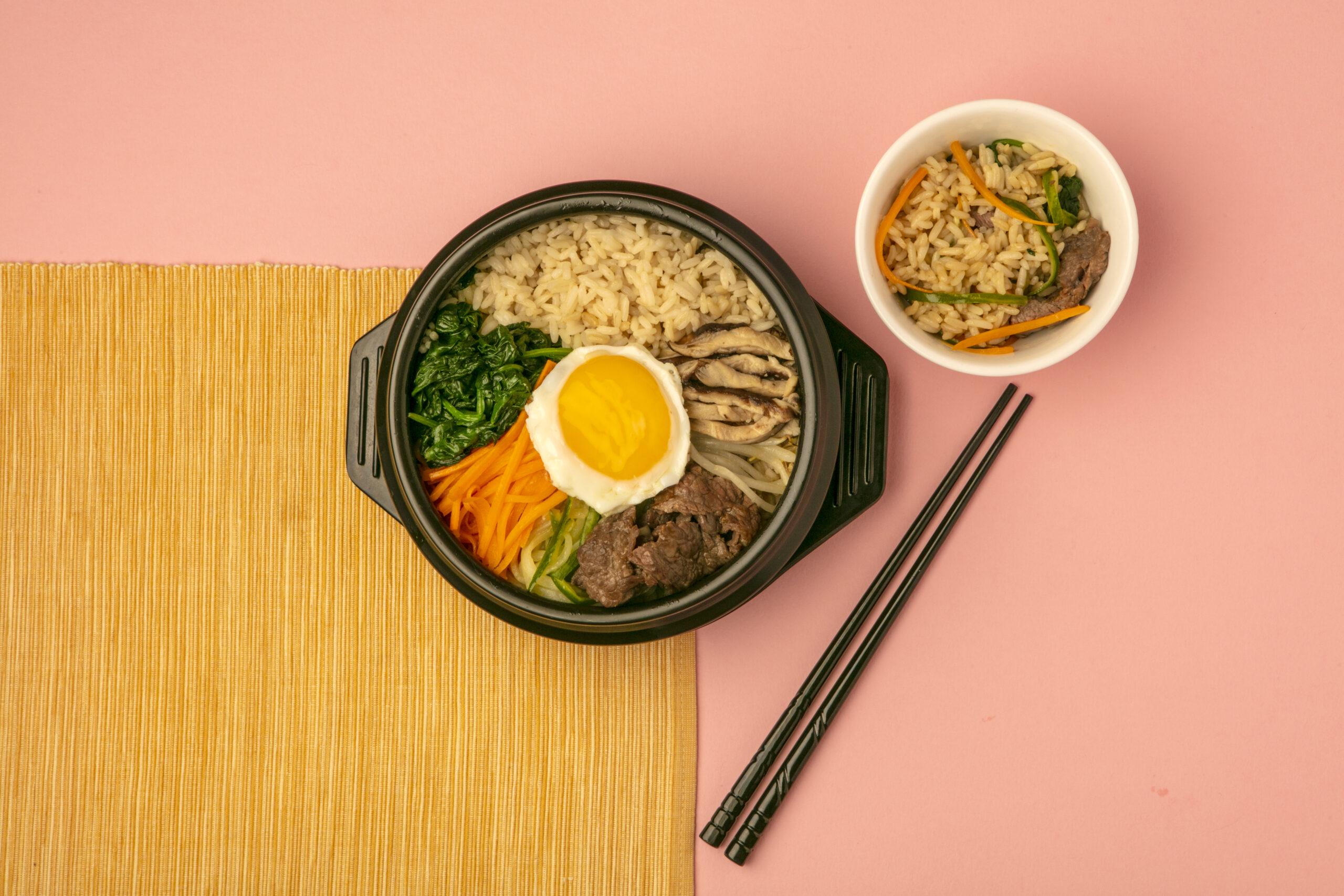 Bibimbap (Korean Stone Pot Rice Bowl)