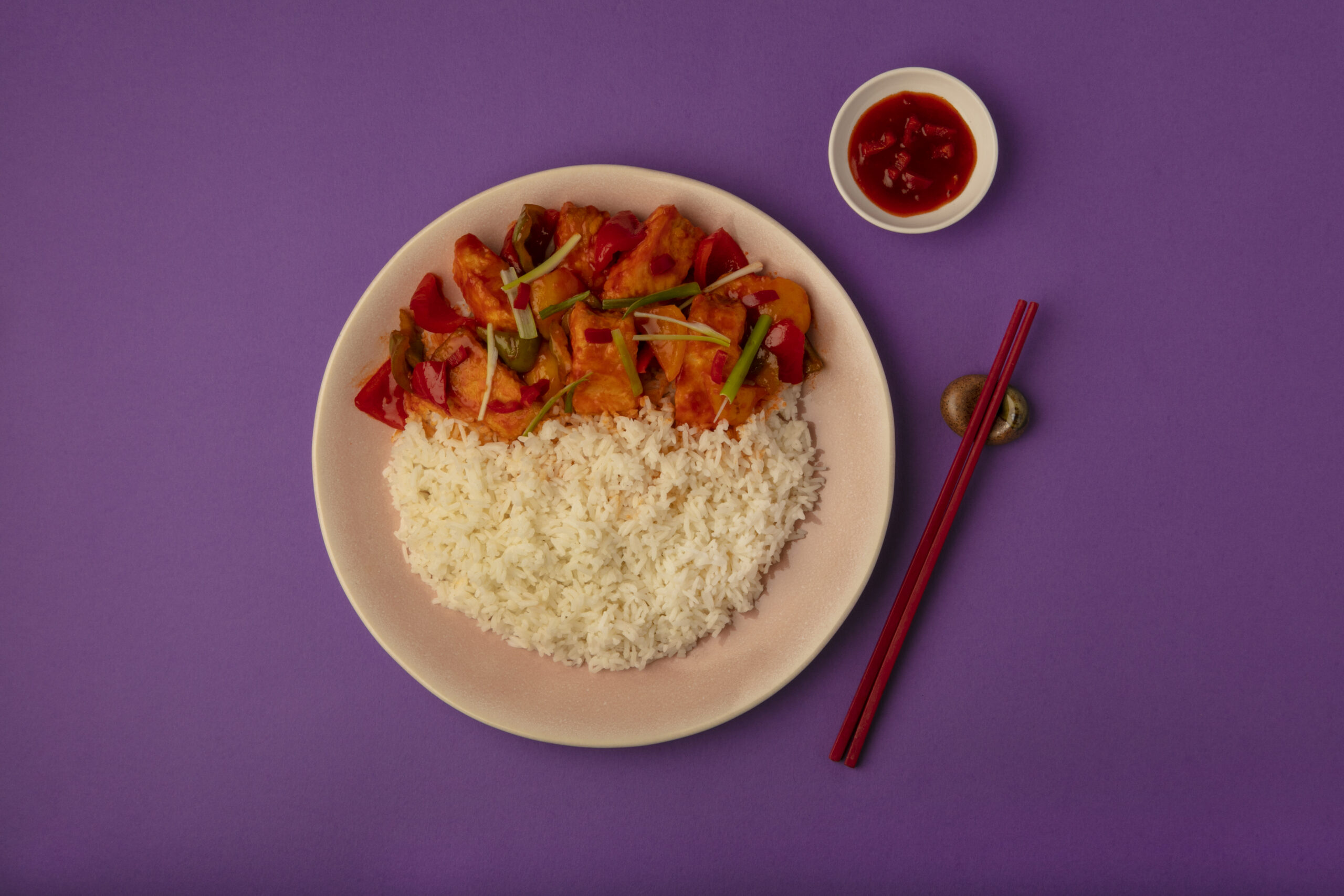 Sweet Chilli Fish with Rice