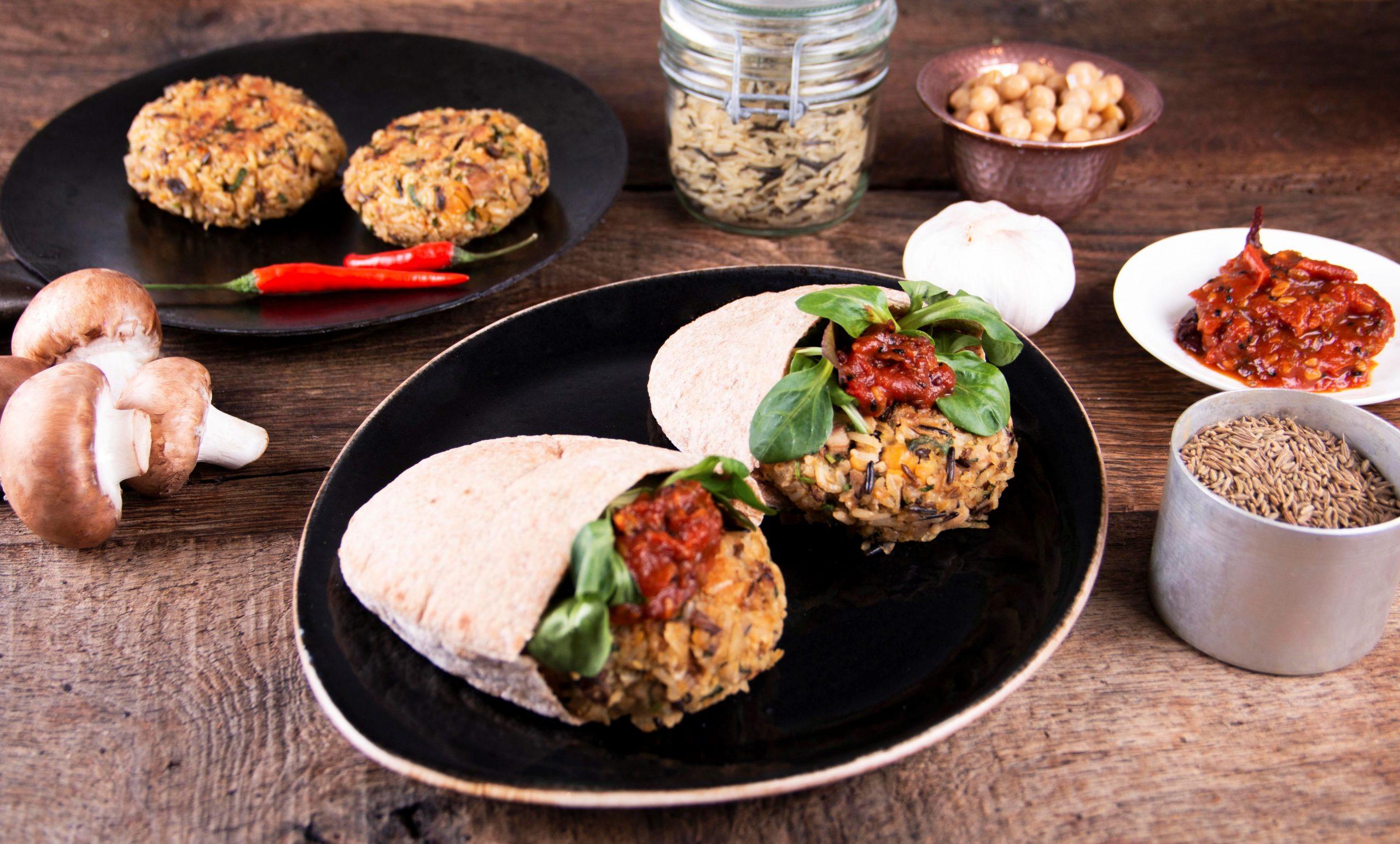 Wild Rice and Mushroom Burger Patties