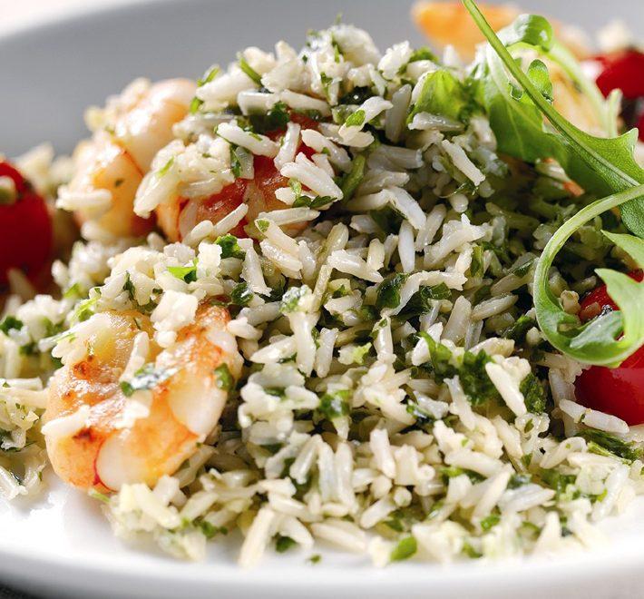 Warm Prawn, Cherry Tomato & Rice Salad
