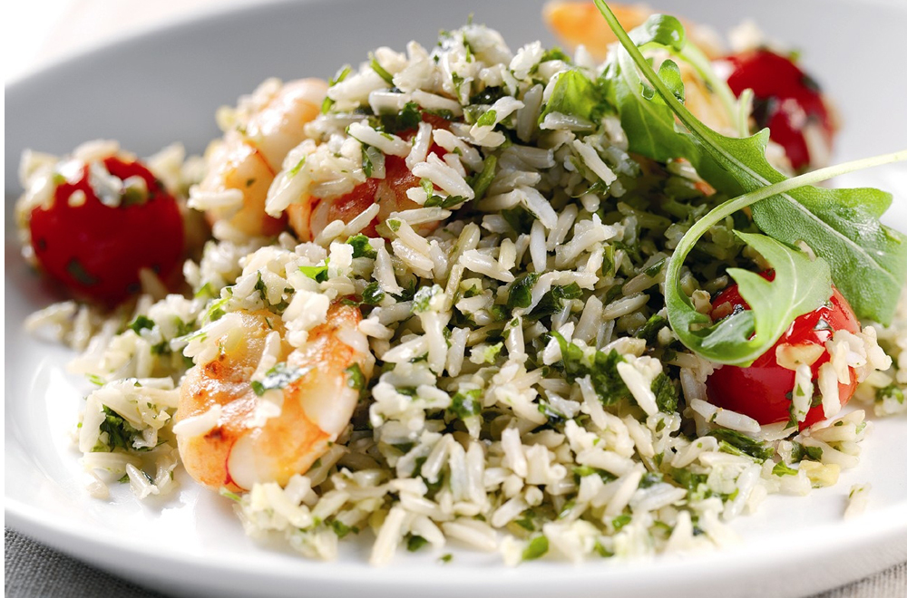 Warm Prawn, Cherry Tomato & Rice Salad