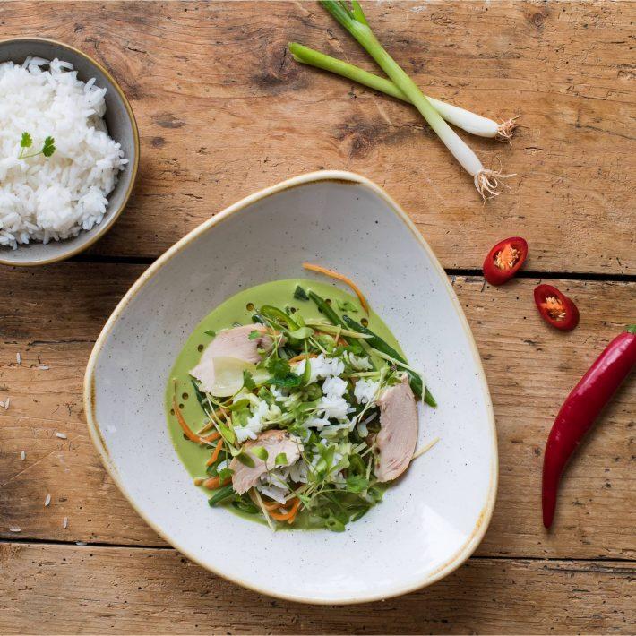Thai Smoked Chicken Broth with Fragrant Jasmine Rice