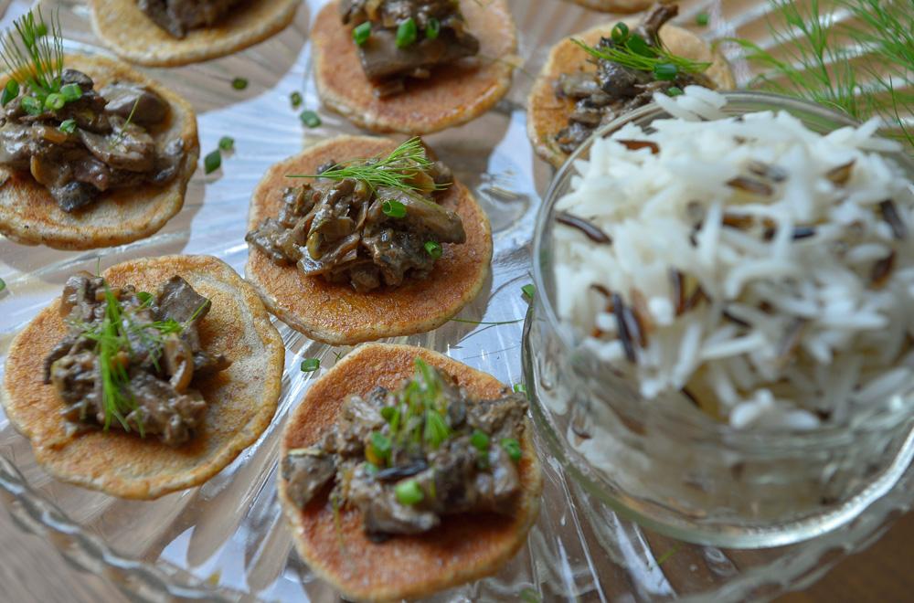 Basmati & Wild Rice Blinis