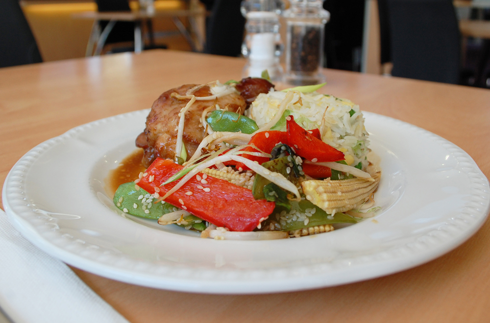 Teriyaki Chicken with Savoury Egg Basmati Rice