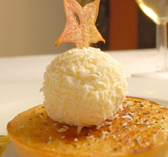 Caramelised Risotto & Basmati Baked Mango Tart