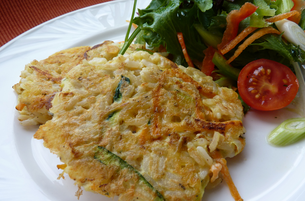 Cheesy Vegetable and Rice Fritters