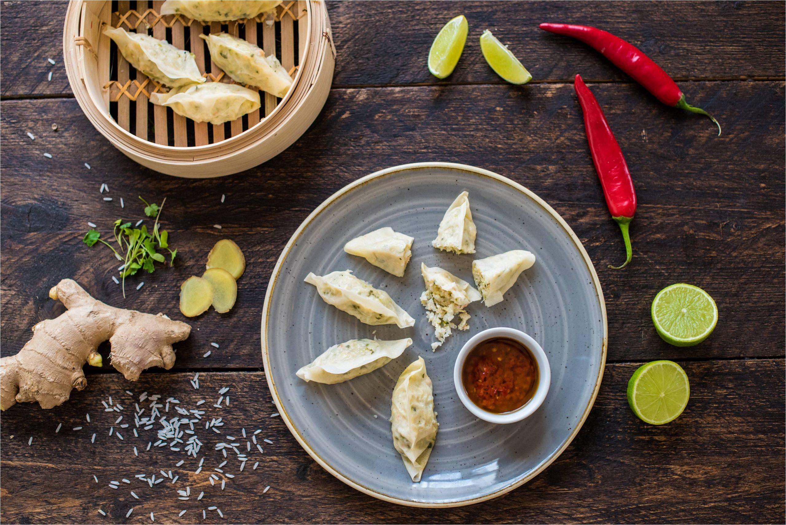 Chinese Prawn Potsticker Dumplings