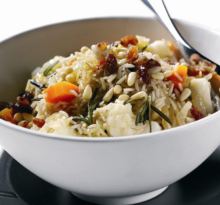 Sicilian Cauliflower & Caramelised Onion Rice