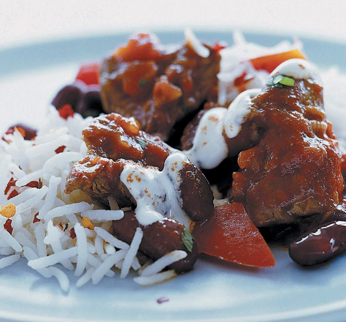 Chunky Lamb Chilli with Easy Cook Basmati Rice