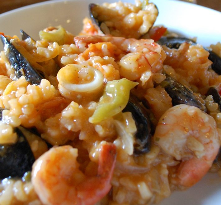 Seafood and Chicken Paella with Tilda Arborio Rice