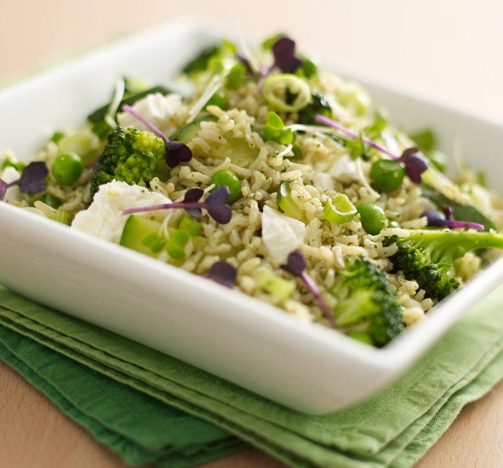 Feta and Broccoli Basmati Salad