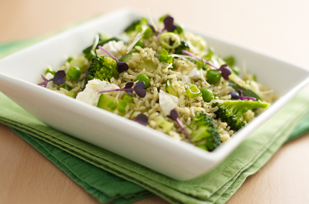 Feta and Broccoli Basmati Salad