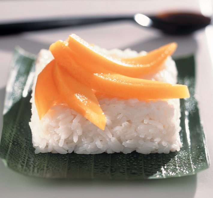 Fragrant Coconut Rice with Mangoes