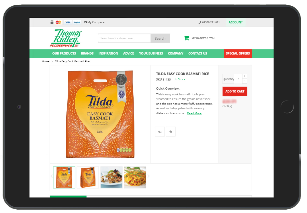 Tilda & Thomas Ridley Foodservice – Working together to feed the nation!