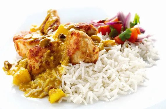 Fruity Chicken Curry & Coconut Basmati Rice
